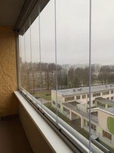 bīdāmas salokāmas stikla-konstrukcijas